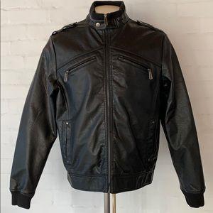 Brave Soul Faux Leather Coat Jacket XL NWOT